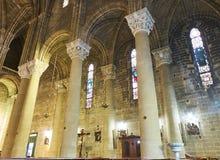 Di Gesu de Chiesa del Sacro Cuore de Gallipoli Puglia, Itália Fotografia de Stock Royalty Free