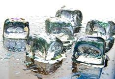 Di ghiaccio dei cubi vita ancora Immagini Stock Libere da Diritti