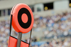 Di gioco del calcio indicatori giù Fotografia Stock Libera da Diritti