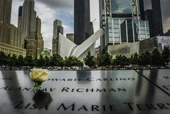 9/11 di ground zero memoral, New York Fotografie Stock