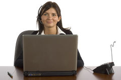 Di impiegato femminile Fotografie Stock Libere da Diritti