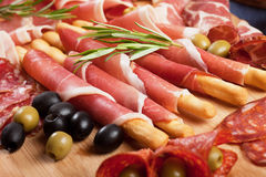 Di italianos Parma do prosciutto Imagem de Stock Royalty Free