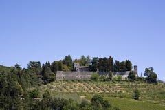 Di Italie Toscane de castello de brolio Photos libres de droits