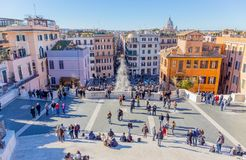 di Italy piazza Rome spagna Obrazy Royalty Free