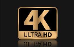 di 4K segno ultra HD Illustrazione di vettore illustrazione di stock