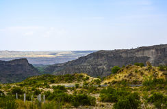 Di Kanhatti delle montagne valle presto Fotografie Stock Libere da Diritti