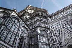 Di laterais Santa Maria del Fiore de Cattedrale da fachada, Florença, Itália 2 Imagem de Stock