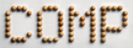 ` Di legno dei comp. del ` di arte di parola della puntina immagini stock libere da diritti