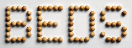 ` Di legno dei letti del ` di arte di parola della puntina Fotografia Stock