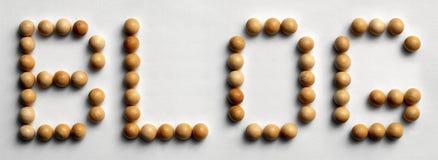 ` Di legno del blog del ` di arte di parola della puntina fotografia stock libera da diritti