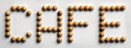 ` Di legno del caffè del ` di arte di parola della puntina Fotografie Stock Libere da Diritti