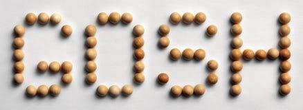` Di legno del ` di arte di parola della puntina Gosh Fotografia Stock