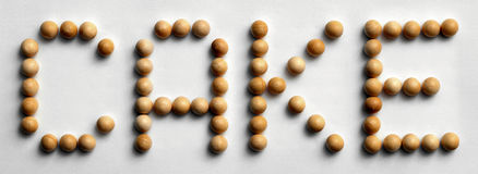 ` Di legno del dolce del ` di arte di parola della puntina immagine stock
