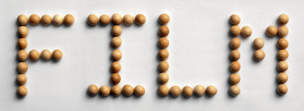 ` Di legno del film del ` di arte di parola della puntina Immagini Stock Libere da Diritti