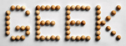 ` Di legno del geek del ` di arte di parola della puntina Fotografia Stock Libera da Diritti