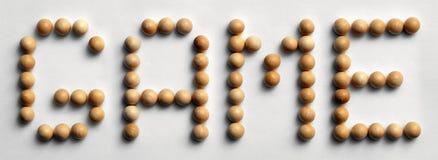 ` Di legno del gioco del ` di arte di parola della puntina Immagine Stock Libera da Diritti
