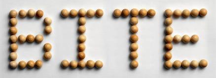` Di legno del morso del ` di arte di parola della puntina immagini stock libere da diritti