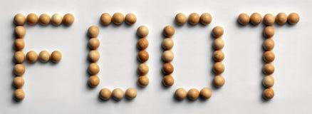 ` Di legno del piede del ` di arte di parola della puntina Fotografia Stock Libera da Diritti