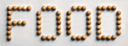 ` Di legno dell'alimento del ` di arte di parola della puntina Fotografie Stock
