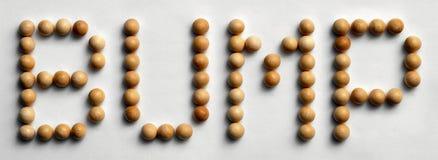 ` Di legno dell'urto del ` di arte di parola della puntina Immagini Stock Libere da Diritti