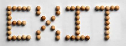 ` Di legno dell'uscita del ` di arte di parola della puntina Immagine Stock Libera da Diritti