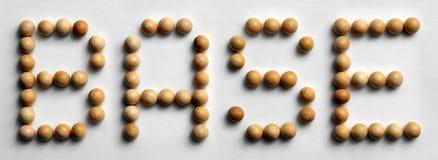 ` Di legno della base del ` di arte di parola della puntina immagini stock libere da diritti