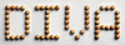 ` Di legno della diva del ` di arte di parola della puntina Fotografie Stock Libere da Diritti