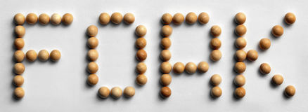 ` Di legno della forcella del ` di arte di parola della puntina fotografia stock libera da diritti