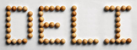 ` Di legno della ghiottoneria del ` di arte di parola della puntina immagini stock libere da diritti