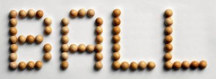 ` Di legno della palla del ` di arte di parola della puntina immagine stock libera da diritti