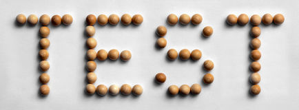 ` Di legno della prova del ` di arte di parola della puntina immagini stock libere da diritti