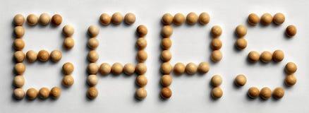 ` Di legno delle barre del ` di arte di parola della puntina Fotografie Stock