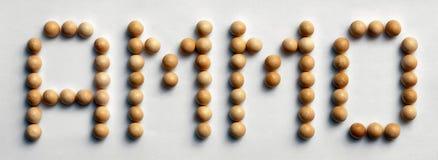 ` Di legno delle munizioni del ` di arte di parola della puntina immagine stock libera da diritti
