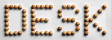 ` Di legno dello scrittorio del ` di arte di parola della puntina Fotografia Stock Libera da Diritti