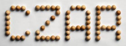 ` Di legno dello zar del ` di arte di parola della puntina fotografia stock libera da diritti