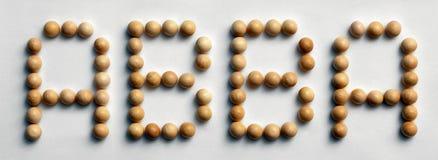 ` Di legno di Abba del ` di arte di parola della puntina Immagini Stock Libere da Diritti