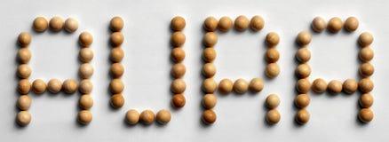 ` Di legno di aura del ` di arte di parola della puntina Fotografia Stock Libera da Diritti