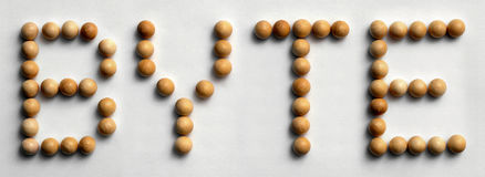 ` Di legno di byte del ` di arte di parola della puntina Fotografia Stock Libera da Diritti