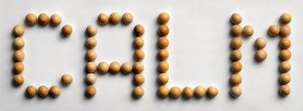 ` Di legno di calma del ` di arte di parola della puntina immagini stock libere da diritti