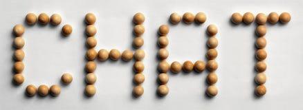 ` Di legno di chiacchierata del ` di arte di parola della puntina Immagini Stock Libere da Diritti