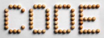 ` Di legno di codice del ` di arte di parola della puntina immagini stock libere da diritti