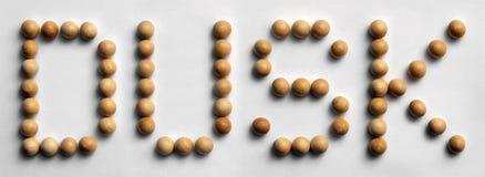 ` Di legno di crepuscolo del ` di arte di parola della puntina immagine stock libera da diritti
