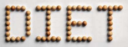 ` Di legno di dieta del ` di arte di parola della puntina Fotografia Stock