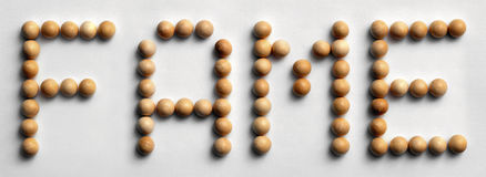 ` Di legno di fama del ` di arte di parola della puntina immagini stock libere da diritti