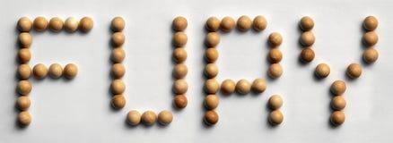 ` Di legno di furia del ` di arte di parola della puntina Immagini Stock Libere da Diritti