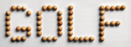 ` Di legno di golf del ` di arte di parola della puntina immagini stock libere da diritti