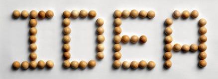 ` Di legno di idea del ` di arte di parola della puntina immagini stock libere da diritti
