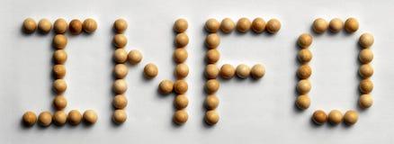 ` Di legno di informazioni del ` di arte di parola della puntina fotografie stock libere da diritti