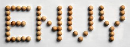 ` Di legno di invidia del ` di arte di parola della puntina Fotografia Stock Libera da Diritti
