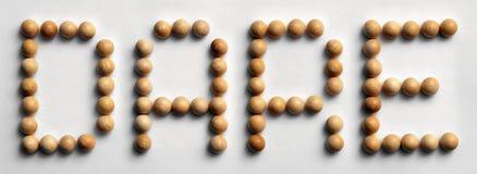 ` Di legno di sfida del ` di arte di parola della puntina fotografie stock libere da diritti